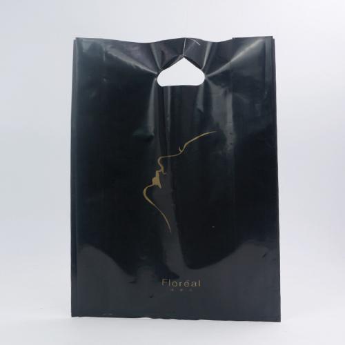 黑色PO服装平口胶袋订制